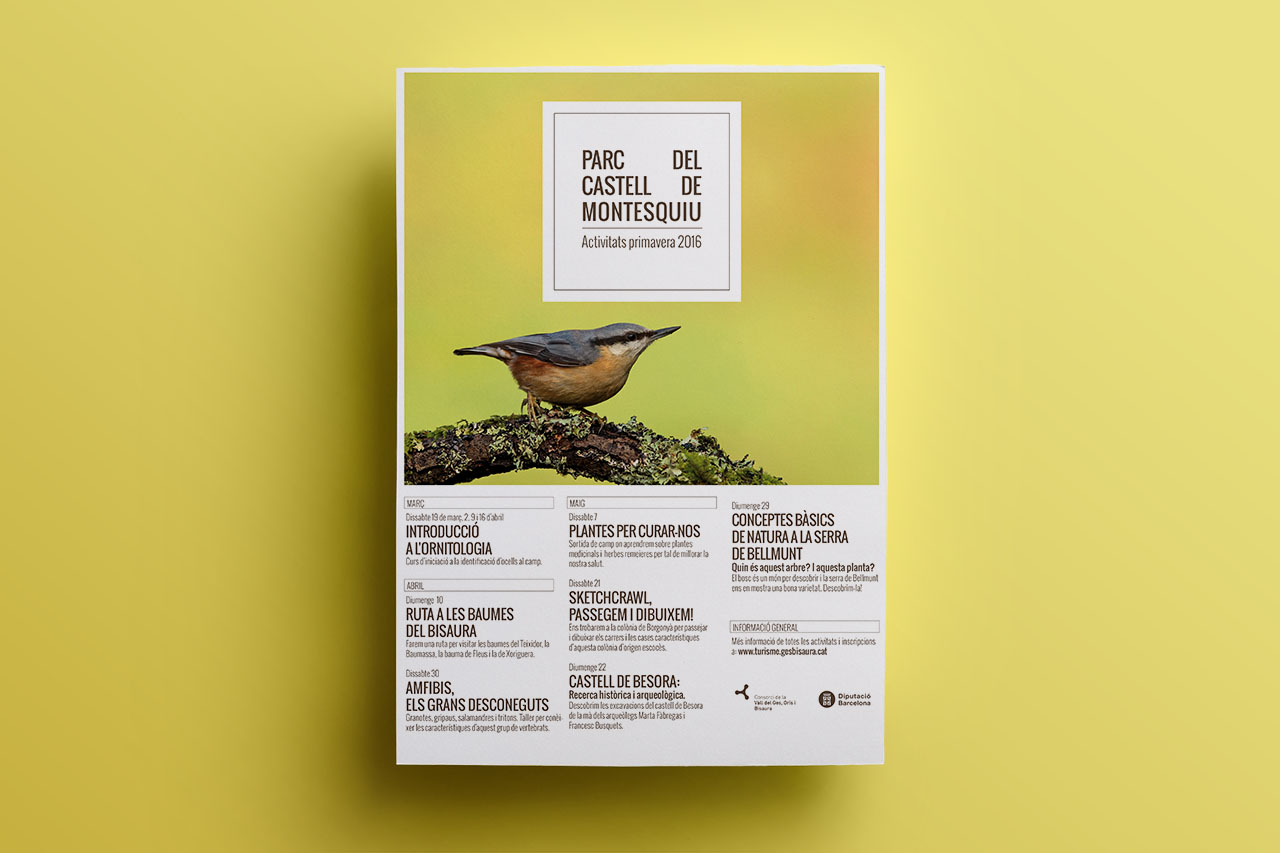 control Z – Parc del castell de Montesquiu - Disseny grafic